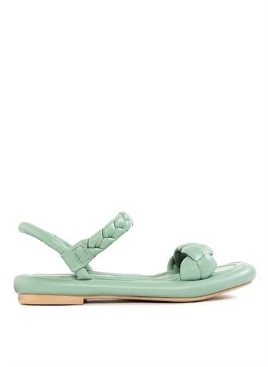 Sole Sisters Düz Sandalet RENNES Yeşil